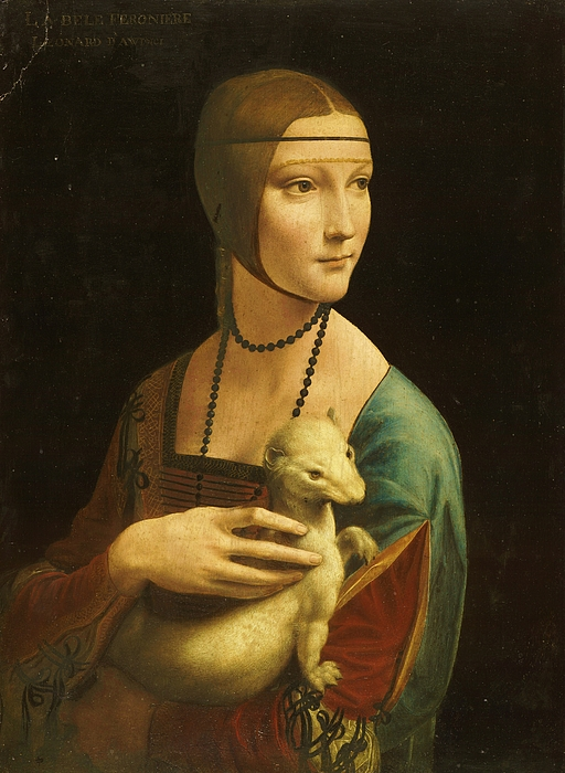 Reproduction Painting - Lady With Ermine by Pg Reproductions