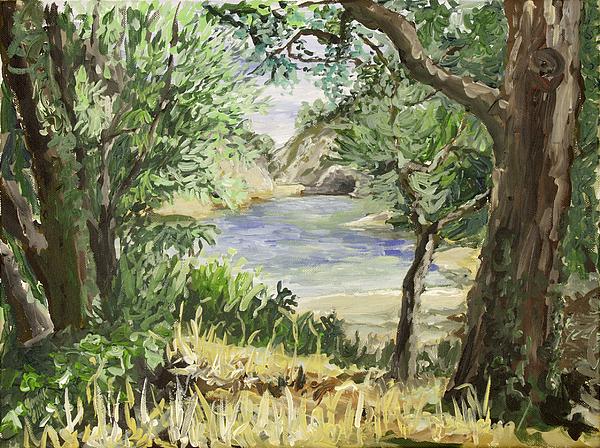 Lake Painting - Lake At St Remy by Gerold Kalter