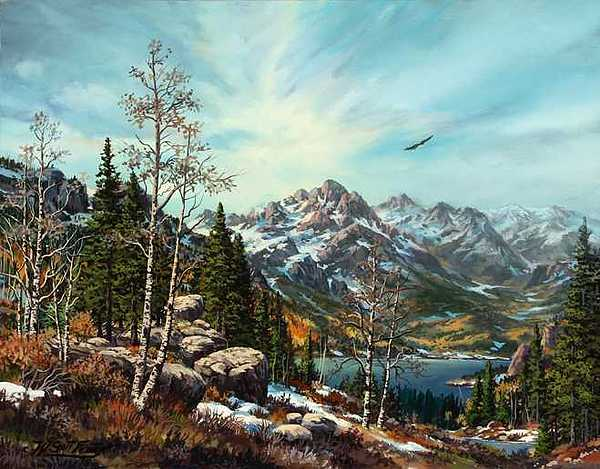 Landscape/snow Melltingl Spring Is Coming Painting - Lake Dillon by W  Scott Fenton