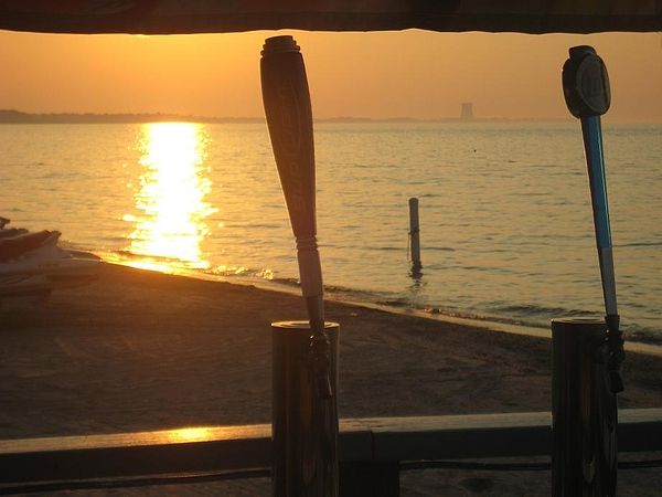 Sun Photograph - Lake Erie On Tap by Toni Jackson