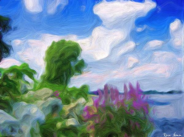 Lake Erie Summer Shore Digital Art by Rein Nomm