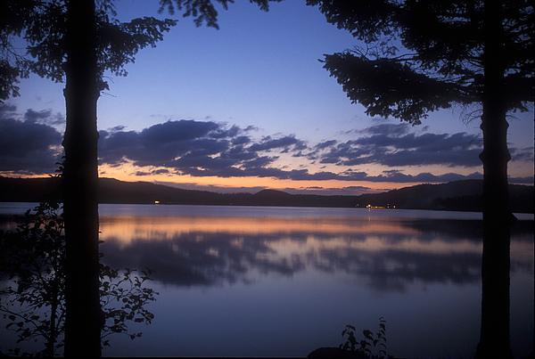 Connecticut Lakes Photograph - Lake Francis Twilight by John Burk