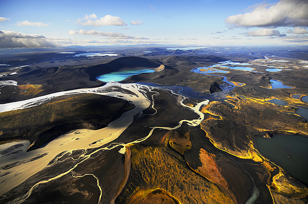 Day Photograph - Lake In An Old Volcanic Crater Or by Mattias Klum