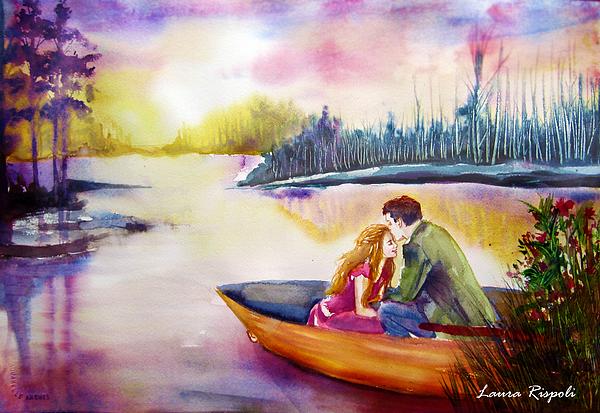 Romance Painting - Lake by Laura Rispoli