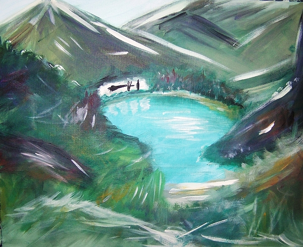 Lake Painting - Lake Louise by Patti Spires Hamilton
