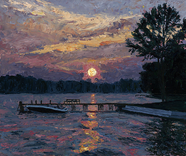 Oils Painting - Lake Martin Sunset by Tyler Smith