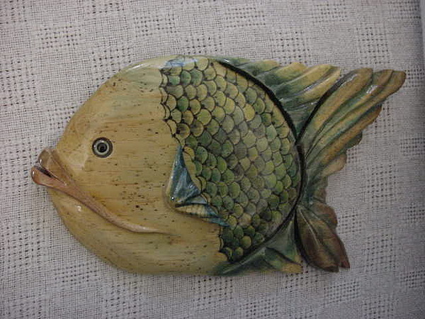 Fish Mixed Media - Lake Mary- Florida Series Fish-sold by Lisa Ruggiero