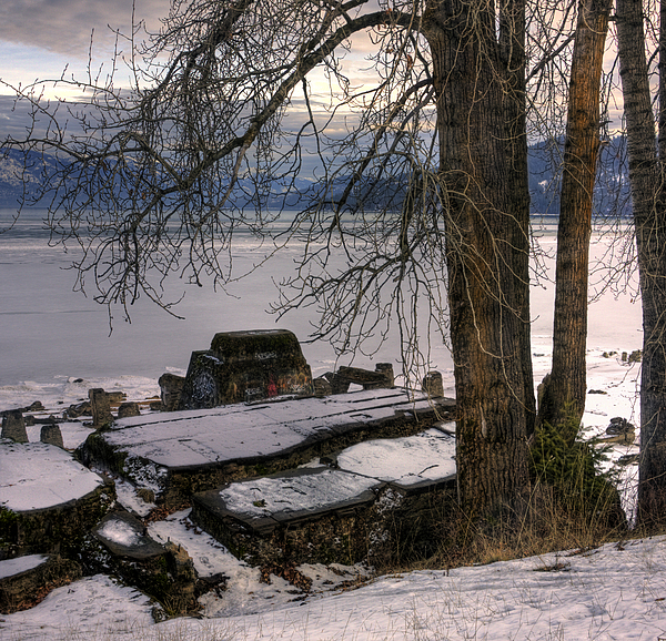 Landscape Photograph - Lake Pend Doreille At Humbird Ruins 1 by Lee Santa