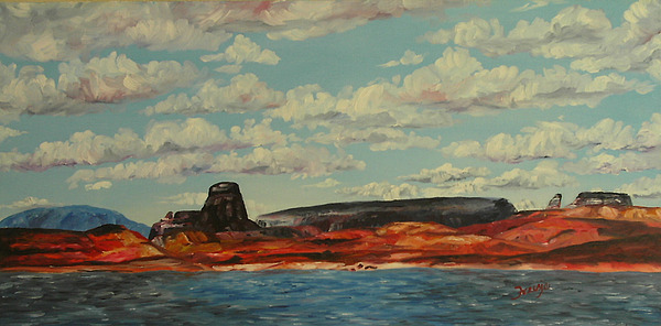 Landscape Painting - Lake Powell Summer by Theresa Higby