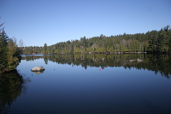 Adirondacks Photograph - Lake Side View by Kate  Leikin