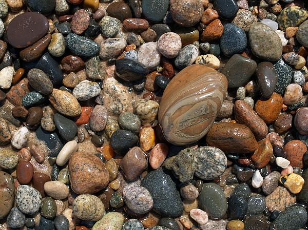 Lake Superior Photograph - Lake Superior Stones by Don Newsom