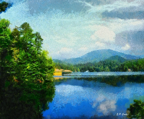 Lake Tahoma Painting - Lake Tahoma In Marion Nc by Elizabeth Coats