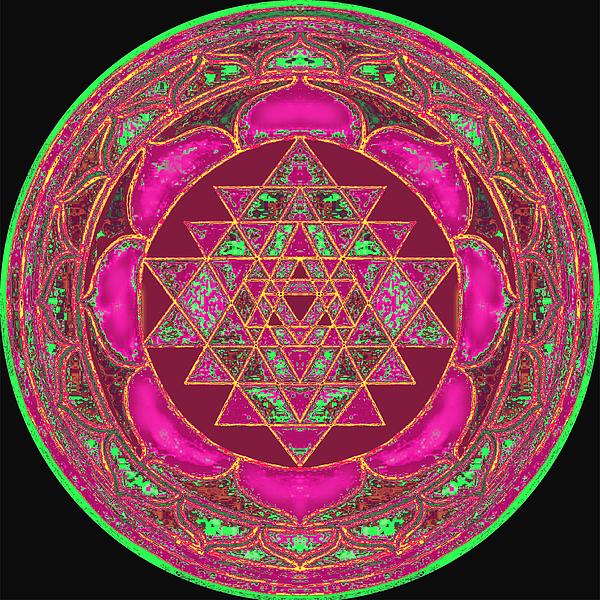Lakshmi Yantra Mandala Painting By Svahha Devi