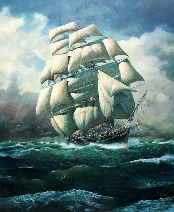 Boats Painting - land Ho Cutty Sark by Colin Parker