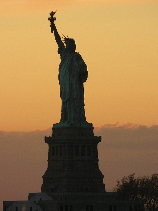 Statue Of Liberty Photograph - Land Of The Free And The Brave by Emmy Vickers