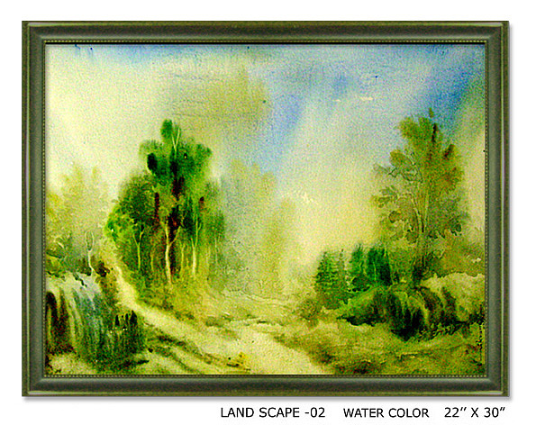 Land Painting - Land Sacpe-2 by Vikram Kumar