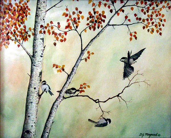 Wildlife Painting - Landing Zone by David  Maynard
