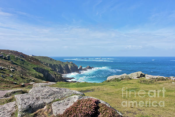 Lands End Photograph - Lands End And Longships Lighthouse Cornwall by Terri Waters