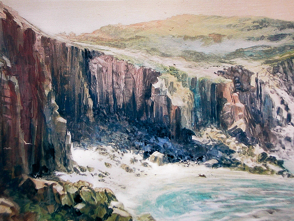 Lands End Cornwall Painting by Don Getz