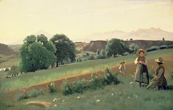 Landscape Painting - Landscape At Mornex by Jean Baptiste Corot