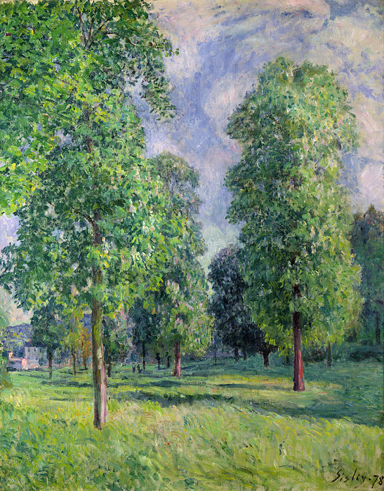 Landscape Painting - Landscape At Sevres by Alfred Sisley