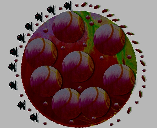Earthglobe Mixed Media - Landscape Decorative by Pepita Selles