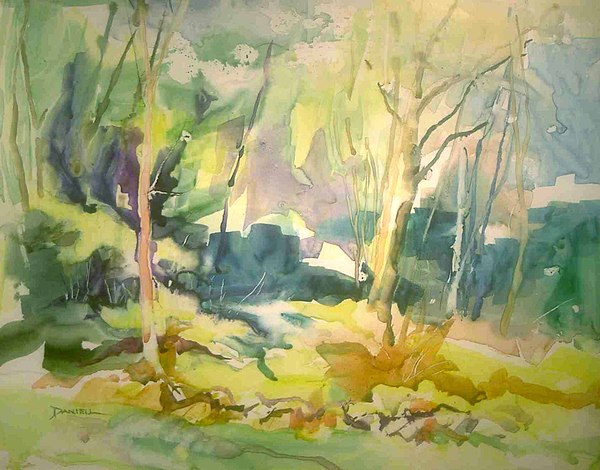 Landscape Painting - Landscape Study I by Frank Daniell