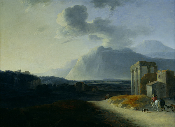Landscape Painting - Landscape With Mount Stromboli by Willem Schellinks
