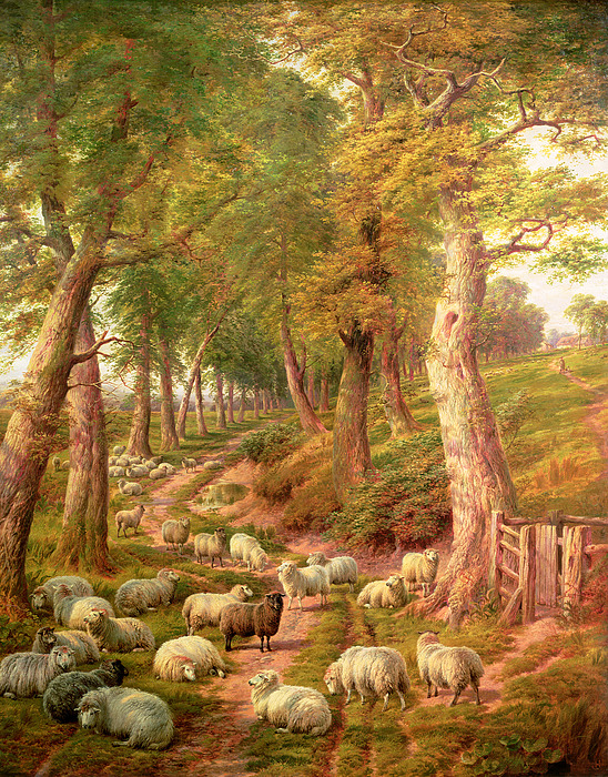Landscapes Painting - Landscape With Sheep by Charles Joseph