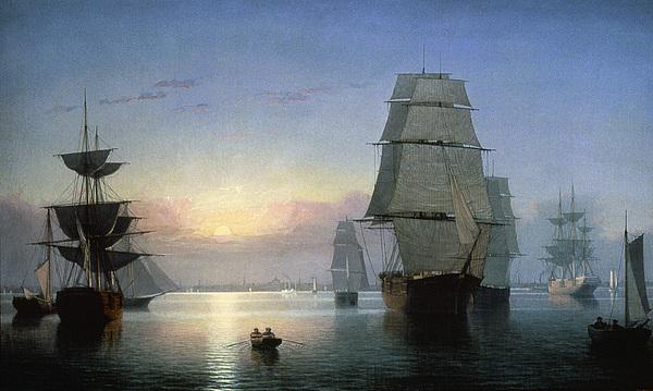 1850s Photograph - Lane: Boston Harbor by Granger