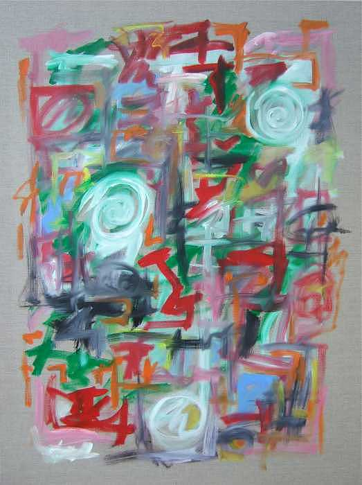 Abstract Painting - Large Abstract No 2 by Michael Henderson