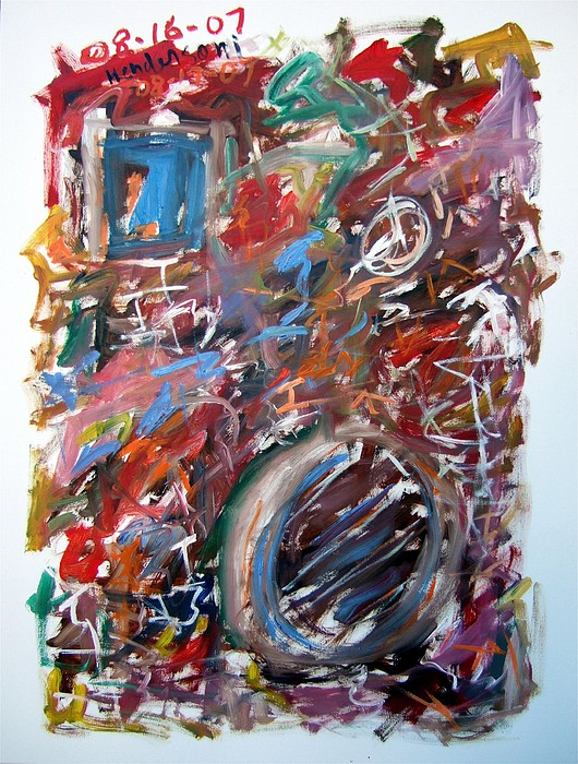 Abstract Painting - Large Abstract No. 6 by Michael Henderson