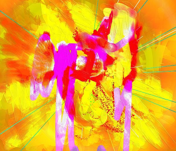 Colorful Digital Art - Large Brushes by Elsbeth Lane