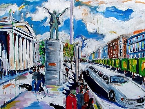 Dublin Painting - Larkins Despair by Caoimhghin OCroidheain