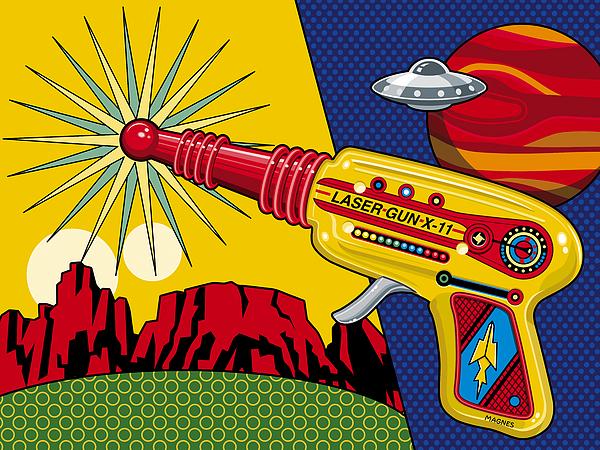 Toy Digital Art - Laser Gun by Ron Magnes