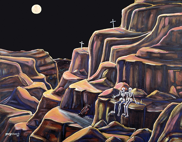 Descansos Painting - Last Night Out by George Chacon