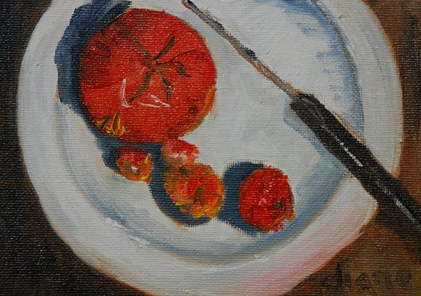 Tomatos Painting - Last Of The Tomatos by Diane Fiore