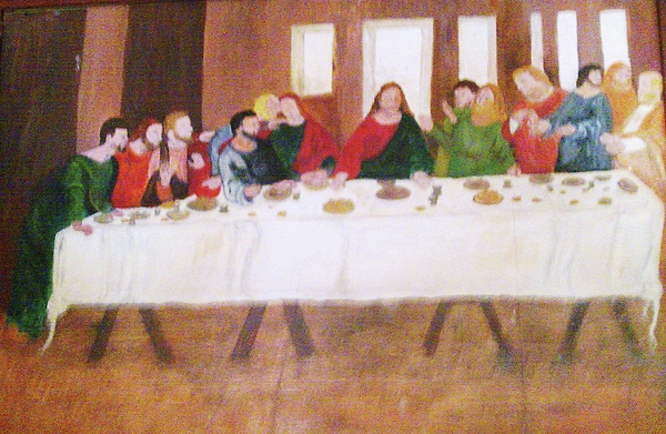 Last Supper Painting - Last Supper by Helen Vanterpool