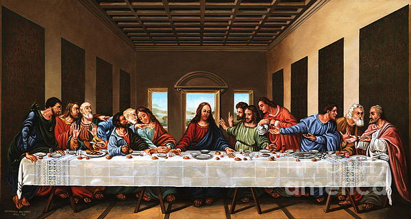 Biblical Painting - Last Supper by Michael Nowak