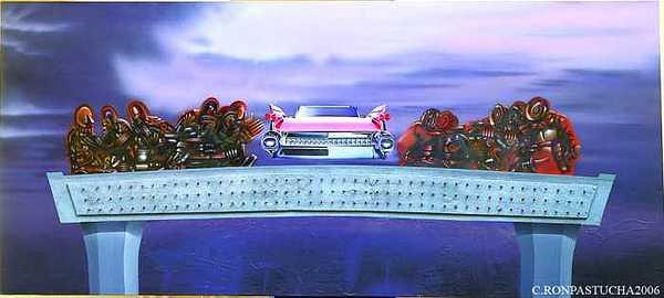 Automotive Painting - Last Supper by Roman Pastucha