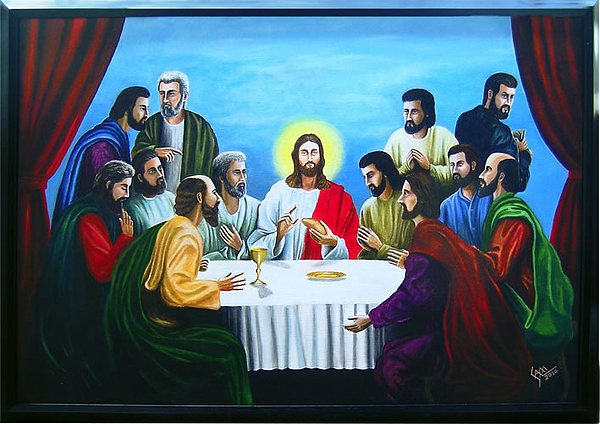 Last Supper Painting - Last Supper by Sam Joseph