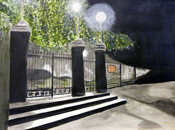 Late Night In New Orleans Painting by Cathy Jourdan