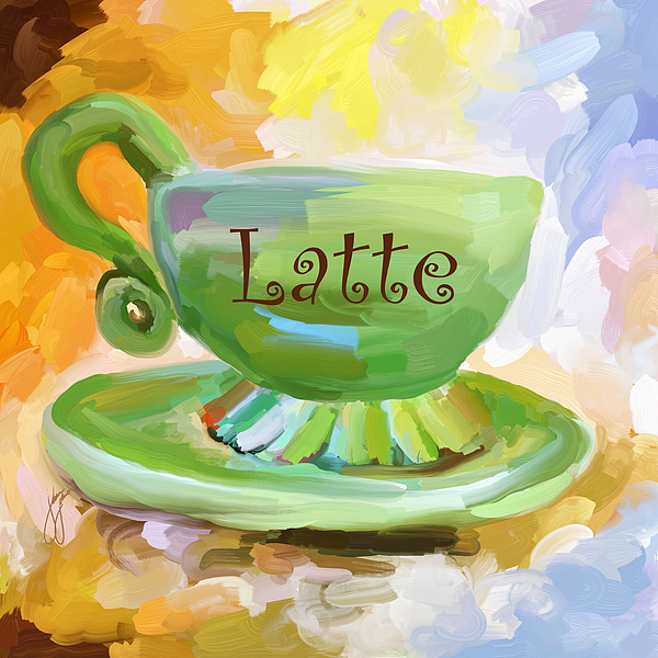 Latte Coffee Cup Painting By Jai Johnson