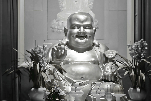 Buddhism Photograph - Laughing Buddha - A Symbol Of Joy And Wealth by Christine Till