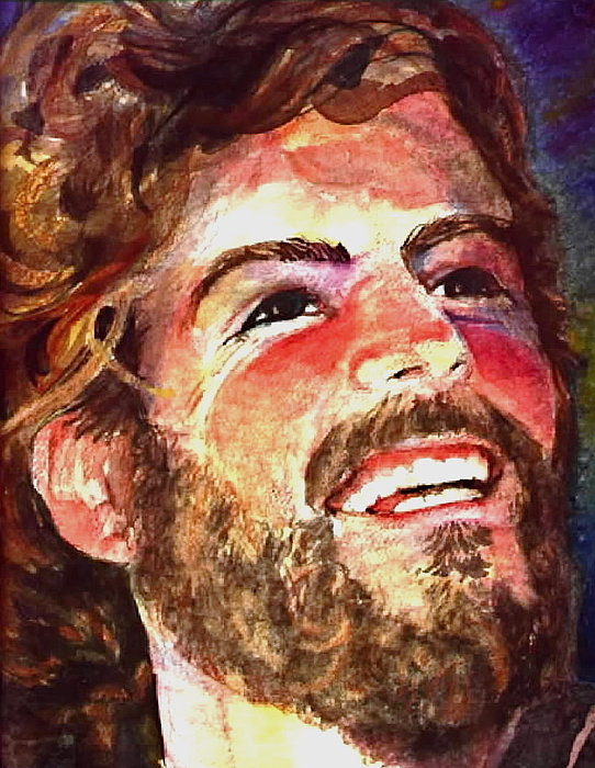 Laughing Jesus Painting by Reveille Kennedy