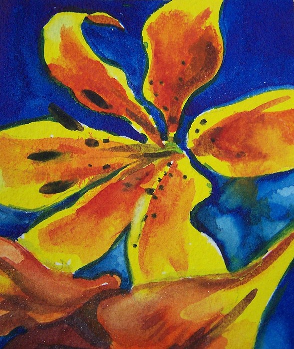 Flowers Painting - Laughing Lily by Jane Hanson