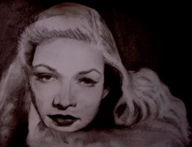 Lauren Bacall Drawing - Lauren Bacall by Janet Gioffre Harrington
