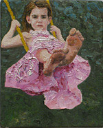 Small Painting - Lauren by Marianne Devine