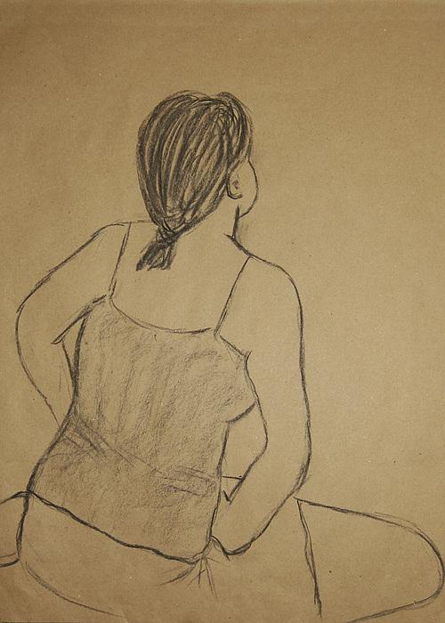 Portrait Drawing - Lauren No.2 by Marina Garrison
