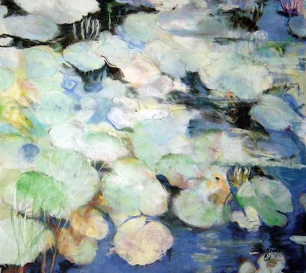 Pastel Pastel - Laurens Lillies by Anita Stoll